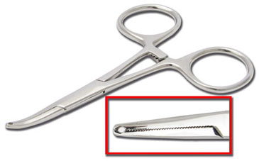 iTC Tattoo et Piercing - Pince clamp sp�cial labret acier inox long. 12cm