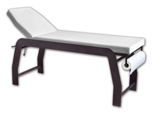 iTC Tattoo et Piercing - Table de massage chassis métal assise blanche 190x60x78 cm