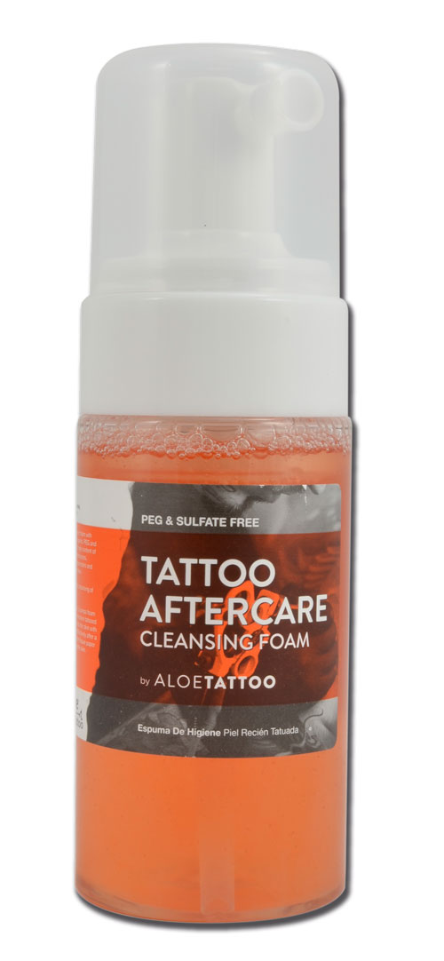 Tattoo aftercare en mousse ALOE TATTOO 125ml