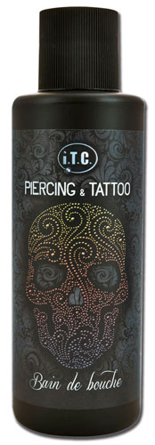 iTC Tattoo et Piercing - Solutions pour bain de bouche flacon de 125ml.