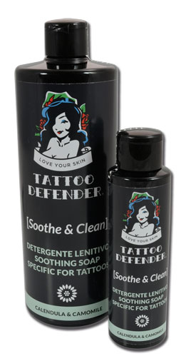 iTC Tattoo et Piercing - SOOTHE AND CLEAN solution apaisante et nettoyante Tattoo Defender