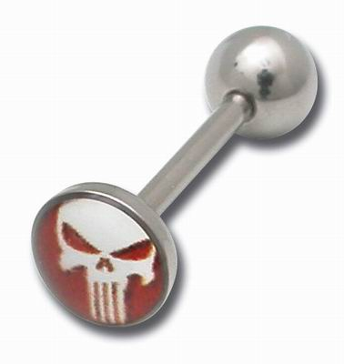 iTC Tattoo et Piercing - Barbell acier disque 8mm