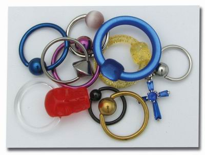 Lot de 10 bijoux clipables - x152