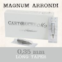 Cartouches M2 Magnum arrondi RM Ø 0.35mm Long taper
