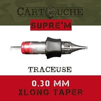 Cartouches SUPRE'M Traceuse RL Ø 0.30mm Xlong taper.