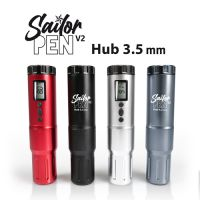 SAILOR PEN V2 Machine Tattoo rotative sans fil, 2 batteries, Hub 3.5 mm