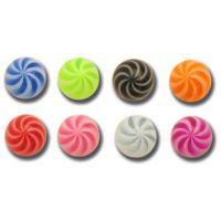 Lot de 5 boules acrylique twist