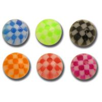 Lot de 5 boules acrylique melon