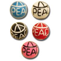 Lot de 5 boules acrylique Peace and love
