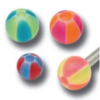 Lot de 5 boules acrylique bicolore