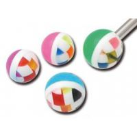 Lot de 5 boules acrylique quadrillage