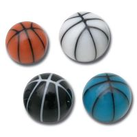 Lot de 5 boules acrylique basket